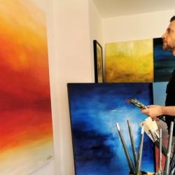 Christian Bahr in seinem Studio