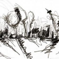 LAZIENKI PARK. 2008. graphite on handmade paper. 33 x 24 cm