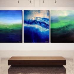 IT IS ALWAYS DARKEST BEFORE THE DAWN. triptych 2018. 380 x 150 cm