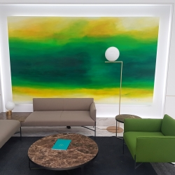 OF LOVE AND HOPE AT THE END OF SUMMER. commissioned work 2018 (London). 350 x 210 cm
