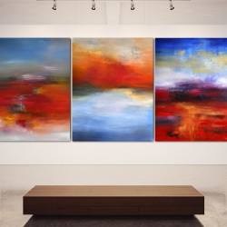 REMEMBER THE DREAMS WE ONCE HAD. triptych 2017. 380 x 150 cm