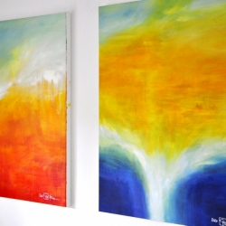 THE LIGHT BETWEEN THE OCEANS III (right). 2020. 120 x 100 cm