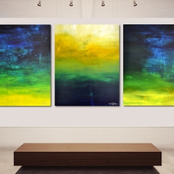 AFTER THE RAIN HAS FALLEN. triptych 2020. 380 x 150 cm