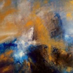 KRIEMHILD SINNT AUF RACHE. KRIEMHILD SEEKS REVENGE. 2013. 120 x 100 cm. oil/acrylic on canvas
