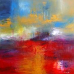 IN FLANDERS FIELDS. AUF DEN FELDERN FLANDERNS. 2014. 130 x 130 cm. oil and acrylic on canvas