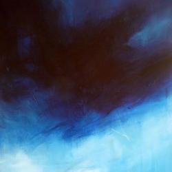 NIGHT OVER THE SEA. NACHT ÜBER DEM MEER. 2014. 100 x 80 cm. acrylic and oil on canvas
