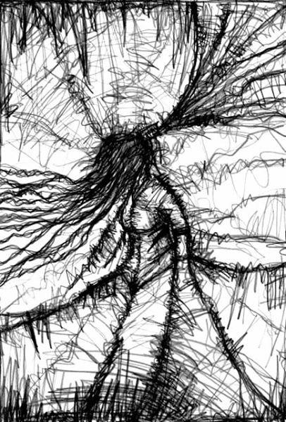 AM I DEAD NOW?. 2006. graphite on paper. 33 x 24 cm