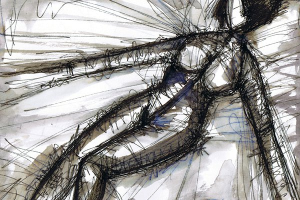 ANDRA EINS. ANDRA ONE. 2007. ink on paper. 33 x 24 cm. drama illustration