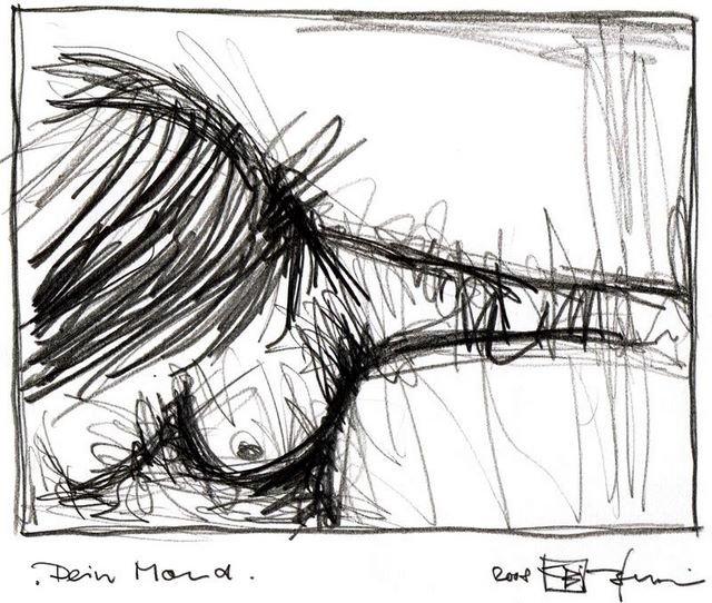 DEIN MOND. YOUR MOON. 2008. graphite on handmade paper. 33 x 24 cm