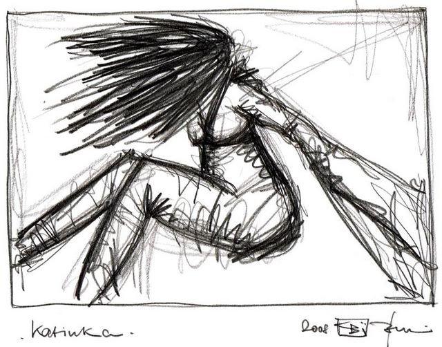KATINKA. 2008. graphite on paper. 33 x 24 cm