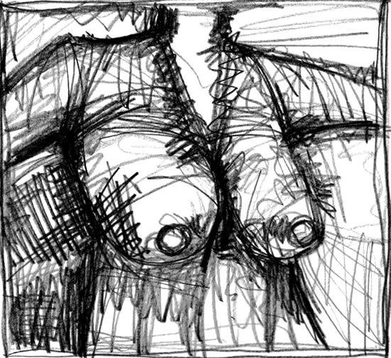 IN NUR EINER SEKUNDE. IN ONLY ONE MOMENT. 2006. graphite on paper. 29 x 22 cm