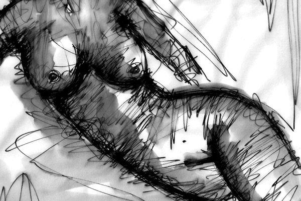 ERINNERUNGEN. MEMORIES. 2008. ink on transparent paper. 33 x 24 cm