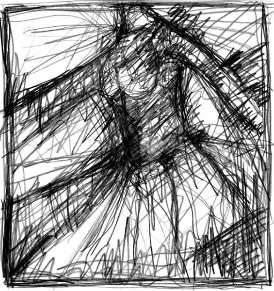 UNDERGROUND. 2005. graphite on paper. 30 x 21 cm