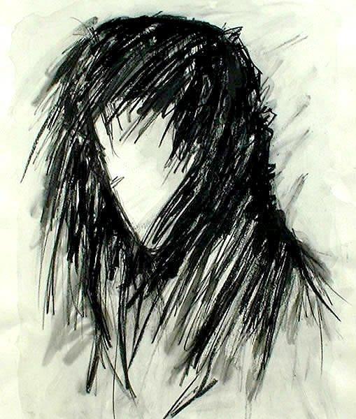 NIKOLA. 1996. charcoal on handmade paper. 41 x 30 cm