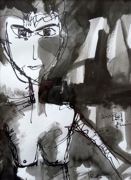 IRA. 2010. ink and ink pencil on handmade paper. 40 x 30 cm