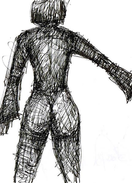 KARMESIN. CARMESINE. 2006. ink on paper. 30 x 21 cm