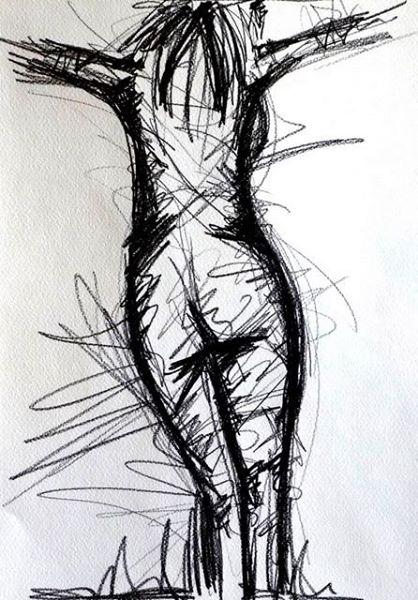 ZEIGE MIR DEINEN GOTT. SHOW ME YOUR GOD. 2008. graphite on paper. 33 x 24 cm