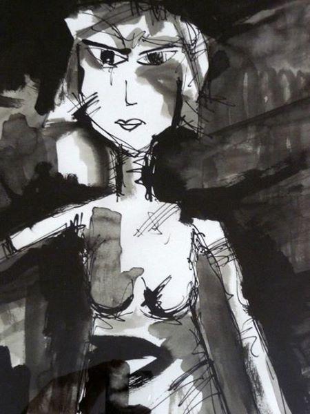 TATJANA. 2010. ink and ink pencil on handmade paper. 50 x 40 cm