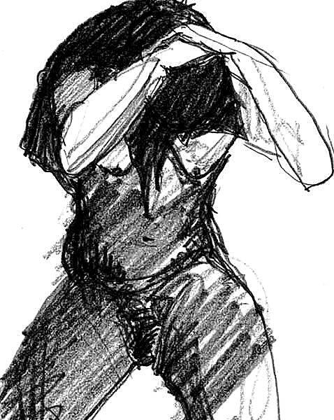 NATHALIA. 2005. graphite on paper. 33 x 24 cm. interpretation of a master of drawings