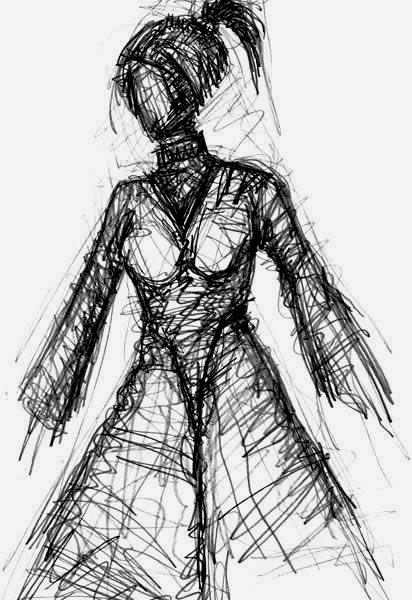 ZINNOBERROT. VERMILLION. 2006. graphite on paper. 29 x 21 cm