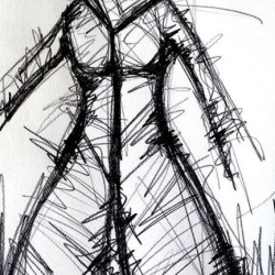 LA PRIMAVERA. 2008. graphite on handmade paper. 33 x 24 cm