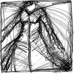 IHR GEIST. HER GHOST. graphite on handmade paper. 32 x 24 cm