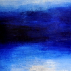 BLUE DREAMS AT THE EDGE OF THE SEA. 2016. 150 x 120 cm