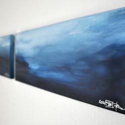 LANGEMARCK IN NOVEMBER. diptych 2021. complete dimension 45 x 50 cm