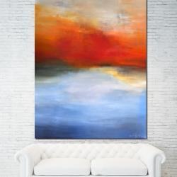AWAKENING BENEATH AUTUMN SKIES. 2017. 150 x 120 x 4,5 cm