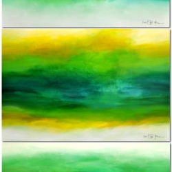 LATE IN THE SUMMER. triptych (three studies) 2018. vertikale Hängung. 120 x 250 x 2 cm