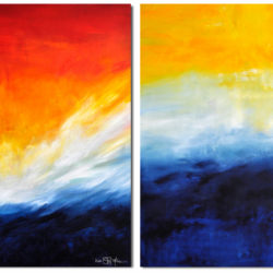 UNTIL THE WORLD WILL DISAPPEAR. diptych 2020. 260 x 150 cm