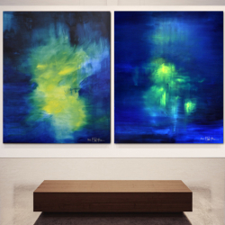 THE FRAGILE LIGHT OF SPRING. Diptych 2021. 120 x 210 cm