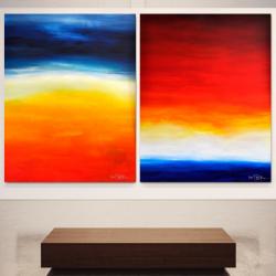 NAPOLEON AND JOSÉPHINE. Diptych 2020. 260 x 150 cm