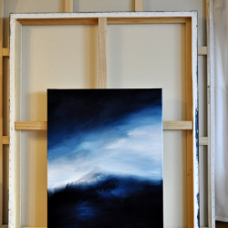 FLANDERS FIELDS IN EARLY WINTER (right part). diptych 2021. complete dimension 80 x 130 cm
