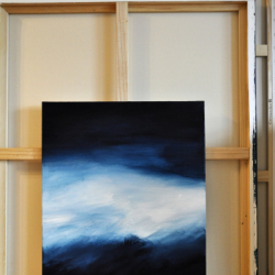 FLANDERS FIELDS IN EARLY WINTER (left part). diptych 2021. complete dimension 80 x 130 cm