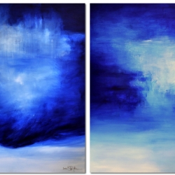 FROM SOURCE TO SEA. diptych 2020. 250 (w) x 150 (h) cm