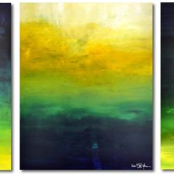 AFTER THE RAIN HAS FALLEN. triptych 2020. 380 x 150 cm