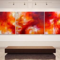 JUDITH & HOLOFERNES (triptych). 2014. 360 x 120 cm. acrylic and oil on canvas