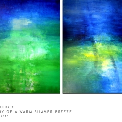 POETRY OF A WARM SUMMER BREEZE. diptych 2016. 255 x 150 cm
