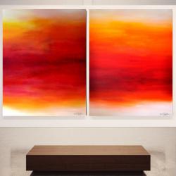 UNDER A RAGING MOON. diptych 2018. 260 x 150 cm