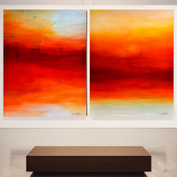 WHEN TWO WORLDS COLLIDE. diptych 2020. 260 x 150 cm