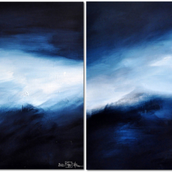 FLANDERS FIELDS IN EARLY WINTER. diptych 2021. complete dimension 80 x 130 cm