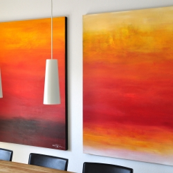 FROM THE FIRST LIGHT TO THE VERY LAST LIGHT. triptych 2017. 380 x 150 cm