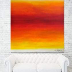 LOVE ON THE BEACH AT SUNRISE. 2019. 120 x 120 cm