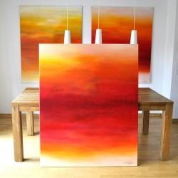 THE FAITHFUL AND THE FALLEN. triptych 2018. 380 x 150 cm