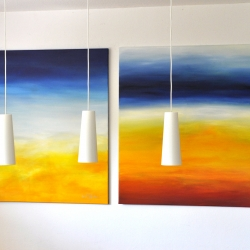 EVERY SUMMER HAS A STORY und DAYDREAMING OF AN ENDLESS SUMMER. 2019. each 150 x 120 cm