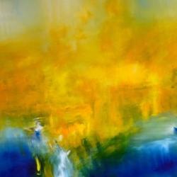 THE LIGHT BETWEEN THE OCEANS. DAS LICHT ZWISCHEN DEN OZEANEN. 2014. 150 x 120 cm. acrylic/oil on canvas