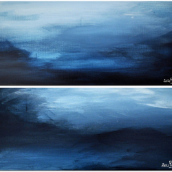 LANGEMARCK IN NOVEMBER. diptych 2021. complete dimension 45 x 50 cm