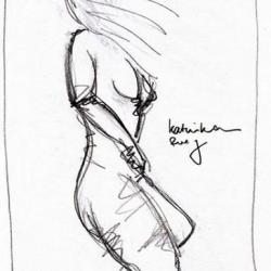 KATINKA RUEG. 2008. graphite on paper. 33 x 24 cm