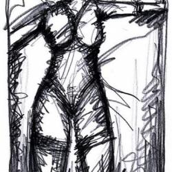GIB MIR ASYL. GRANT ME ASYLUM. 2008. graphite, charcoal on paper. 40 x 35 cm